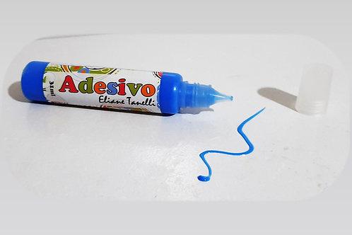 Unidade tinta adesivo colorido  azul