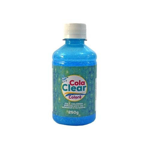 Cola Clear Colorê Funny Gliart Azul