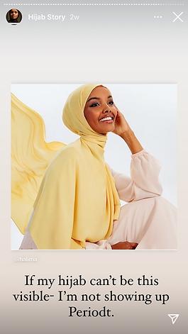 Halima Aden - Instagram story - The Spil