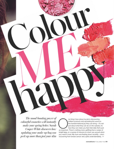 Colour psychology in Woman and Home
