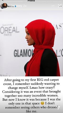 Halima Aden Instagram story - The Spill