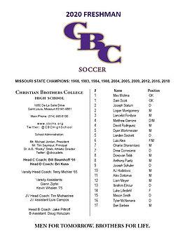2020 Freshman Team Soccer Roster.jpg