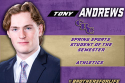 Tony Andrews Studsent of Semester