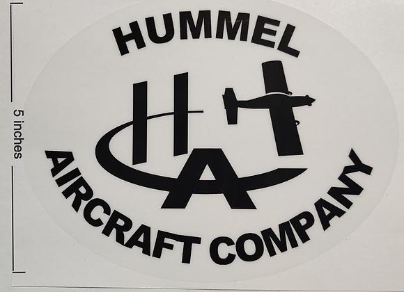Hummel Aircraft Company Decal 7''x 5''