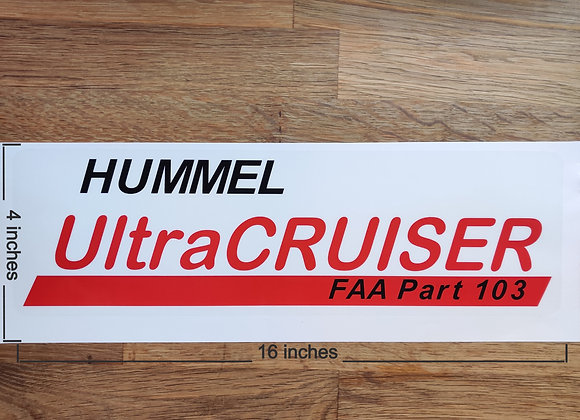 Hummel Aircraft Company Decal 16'' x 5''