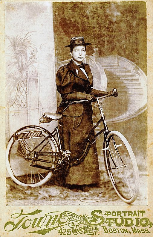 Annie Londonderry the first woman to bicycle around the world! The history chicks recommend listening to her episode.