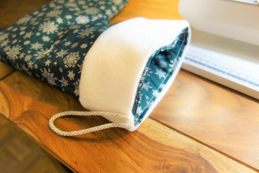 Sew the polar fleece together to create a cute cuff.
