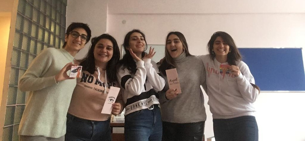 Names from left to right: Mariam Avagyan, Maria Kjderian, Sose Simavoryan, Margarita Gevorgyan, Lucine Garibian. from Kyoorigs in Armenia helping with Artsakh refugees.