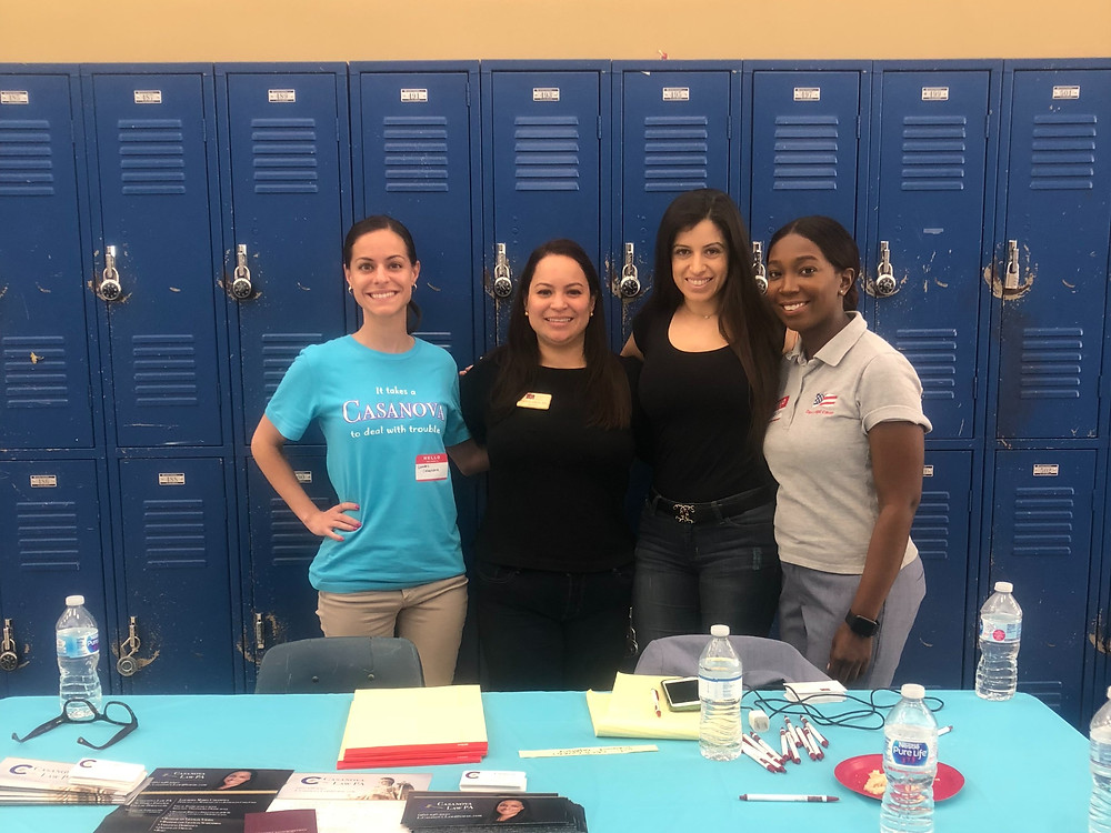 Lourdes Casanova lawyer at the Coral Springs Community Law Day.