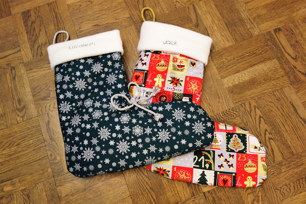 Festive, easy-sow, Christmas stockings!