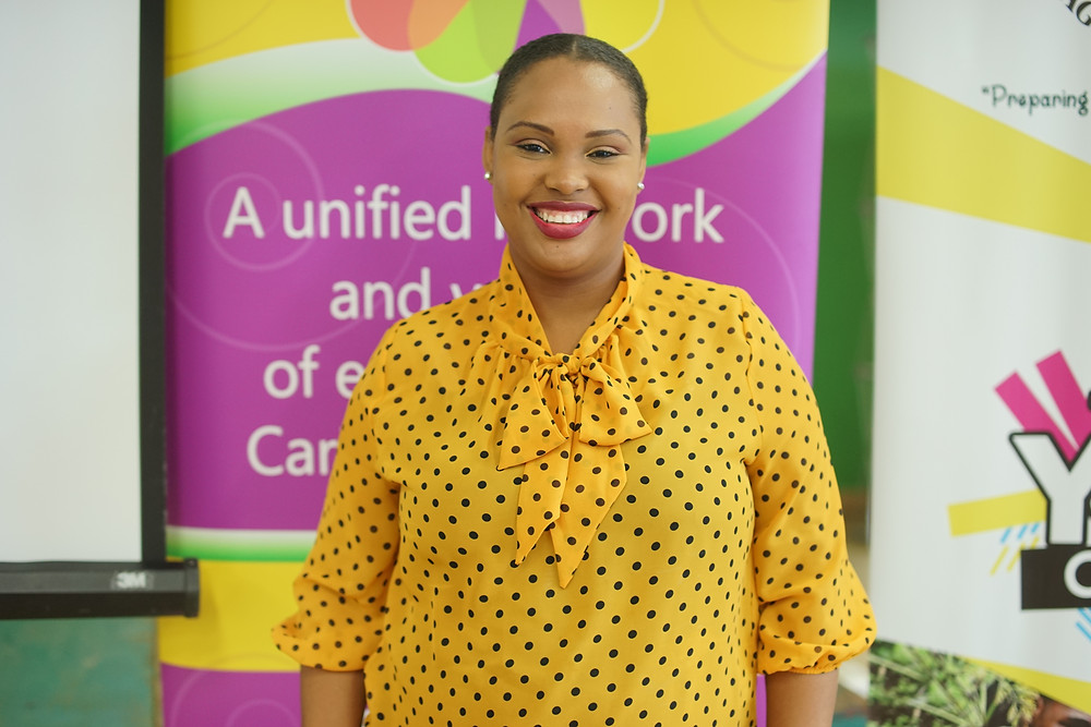 Katrina McIntosh, Mental Health advocate, activist, and founder of Persons With Mental Illness (PWMI) at the Carribean Regional Youth Council 2020.