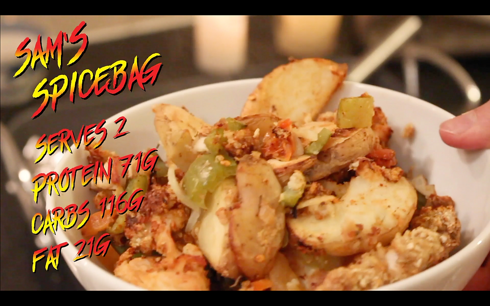 Sam's healthy and simple spicebag recipe recreating a takeaway classic at home.