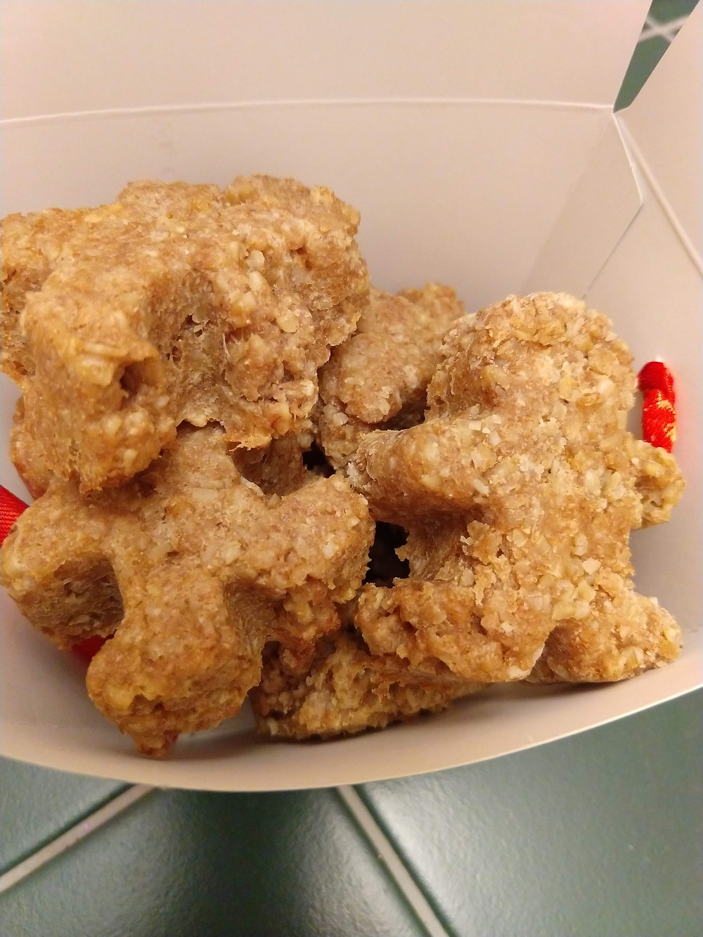 Family fun activity of making Doggie Gingerbread pet treats for dogs or shelter pups.