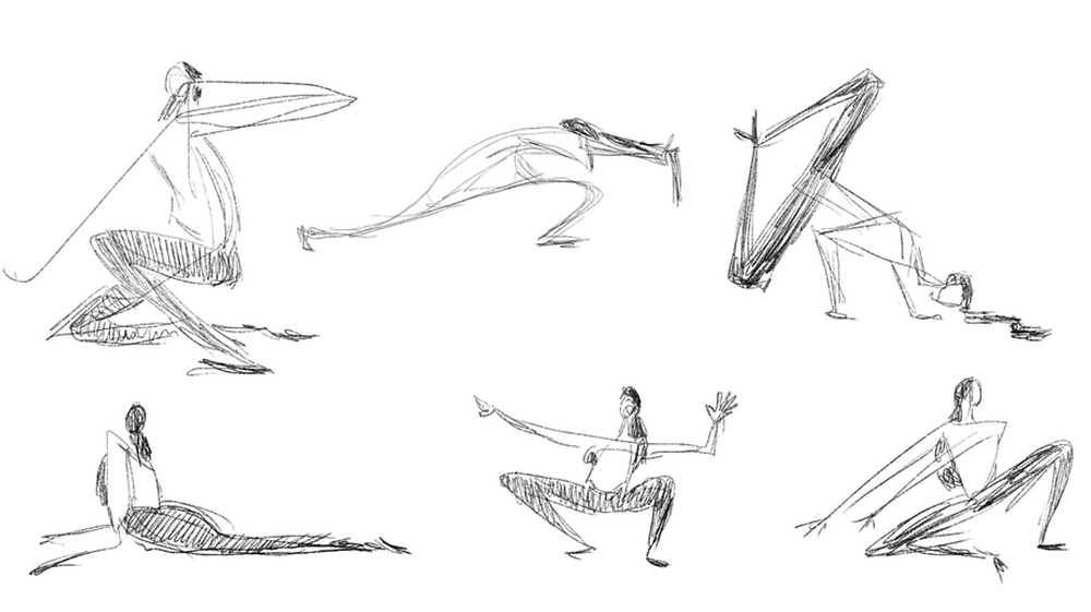 EIE Sketches: Nak Choi // Dancer: Joan Padeo // Courtesy of B. Dunn Movement.