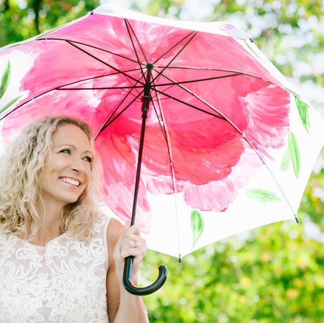 Artist in U J. Peg of Umbrella postcard