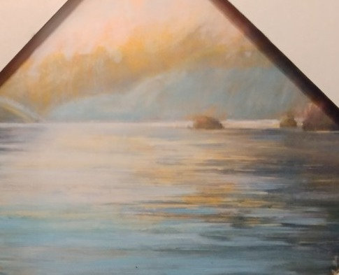 13#. Deep Cove canvas print 8 x 8 framed