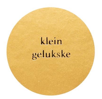 Klein gelukske - goud (per 2)