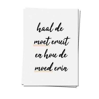 Moet/moed