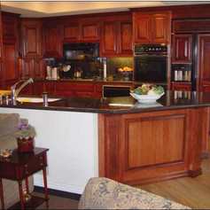 Refaced Cherry Cabinets