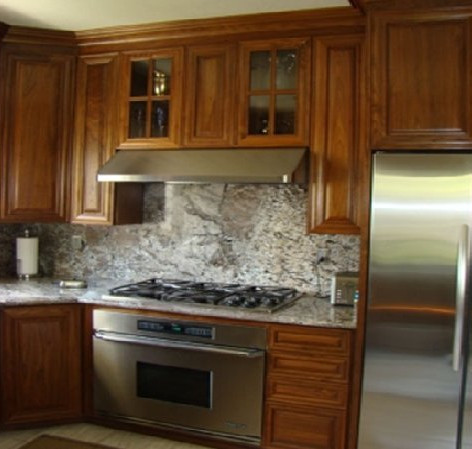Walnut Wood Cabinets
