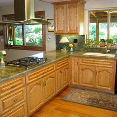 Red Oak Custom Finished Cabinets