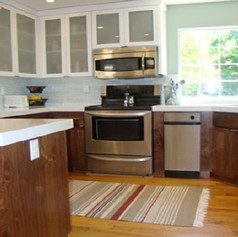 Painted and Wood Mixed Cabinets