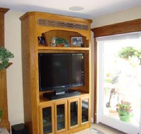 Red Oak Custom Finished Entertainment Center