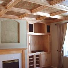 Maple Wood Ceiling & Entertainment Center