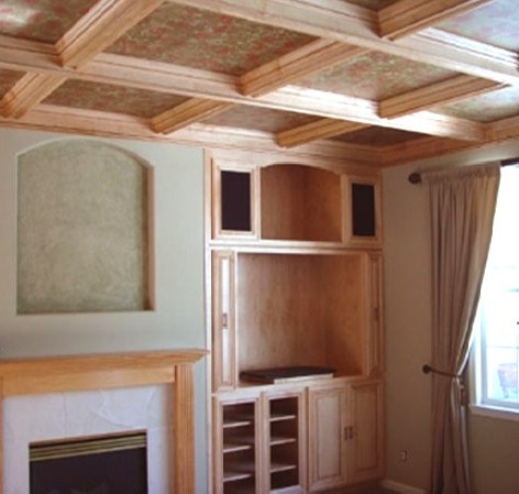 Maple Wood Ceiling & Entertainment Center