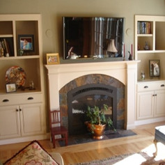 Mantel and Entertainment Center
