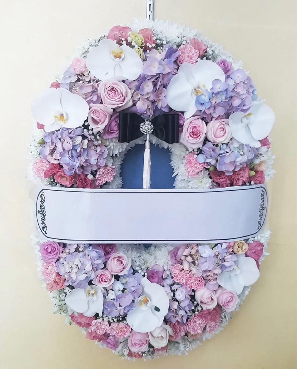 พวงหรีด พวงมาลา ดอกไม้งานศพ