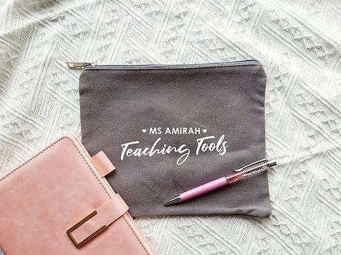 TEACHER HANDY POUCH (Grey)
