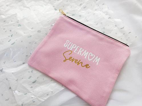 SUPERMOM PINK POUCH