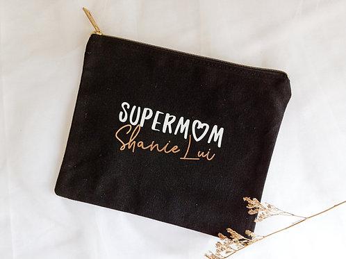 SUPERMOM BLACK POUCH