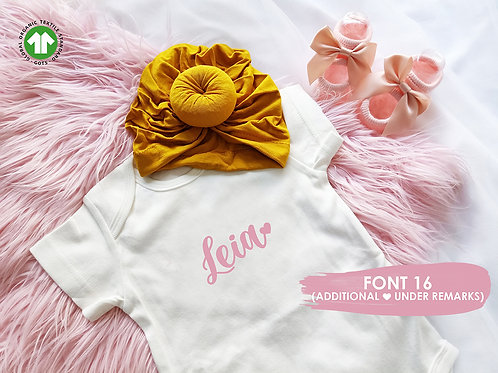 PERSONALISED ROMPER (23 Fonts)