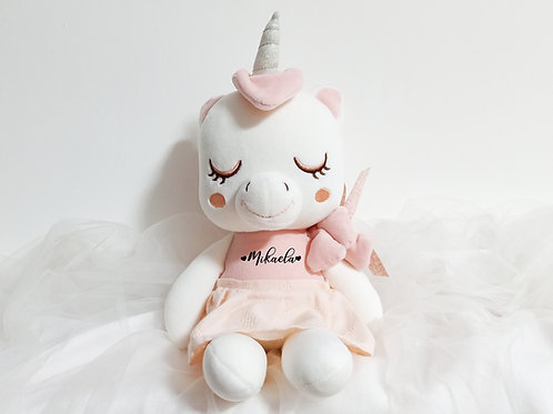 PERSONALISED LOVELY UNICORN PLUSHIE