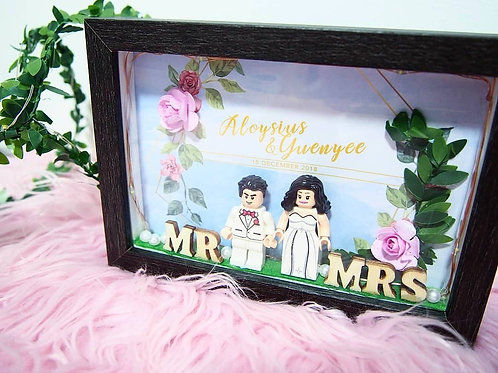 FLORAL MYSTICAL LIGHTED FRAME