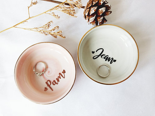 PERSONALISED MARBLE RING DISH