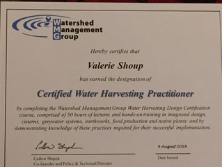 Certified Water Harvesting Practitioner