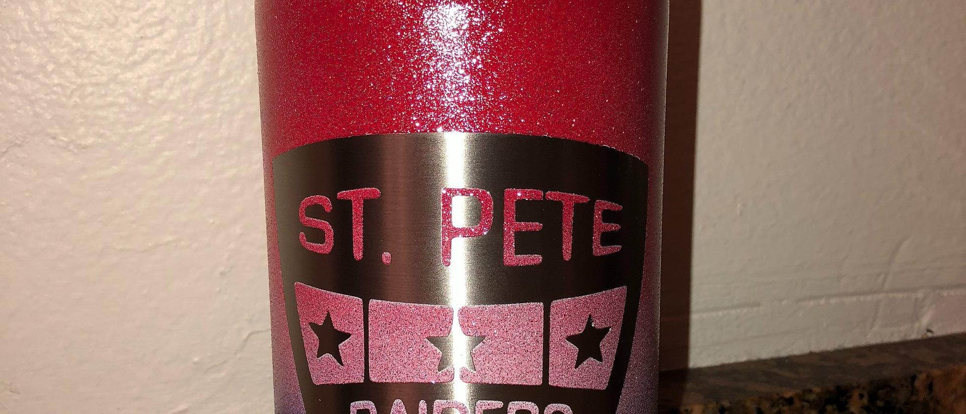St Pete Raiders water bottle