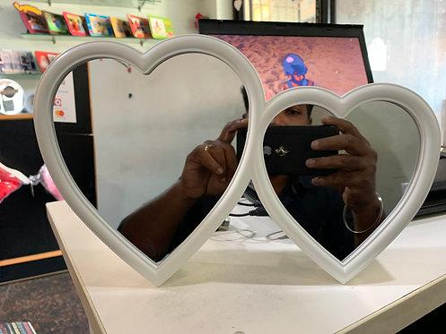 Magic mirror double heart