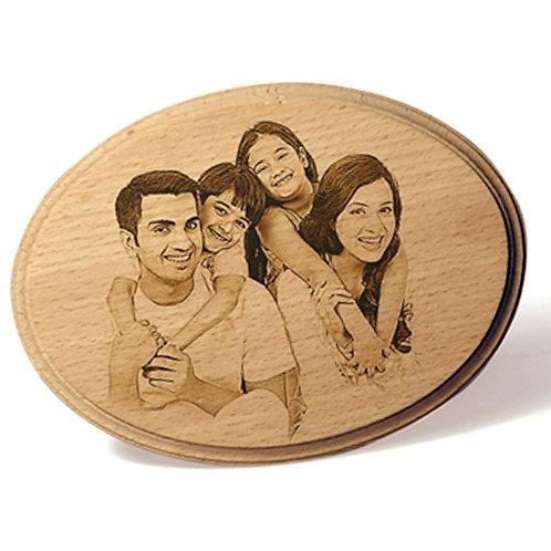 Wood engrave frames