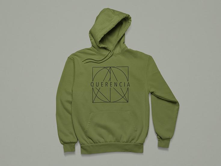 Military Green Full Logo Hoodie