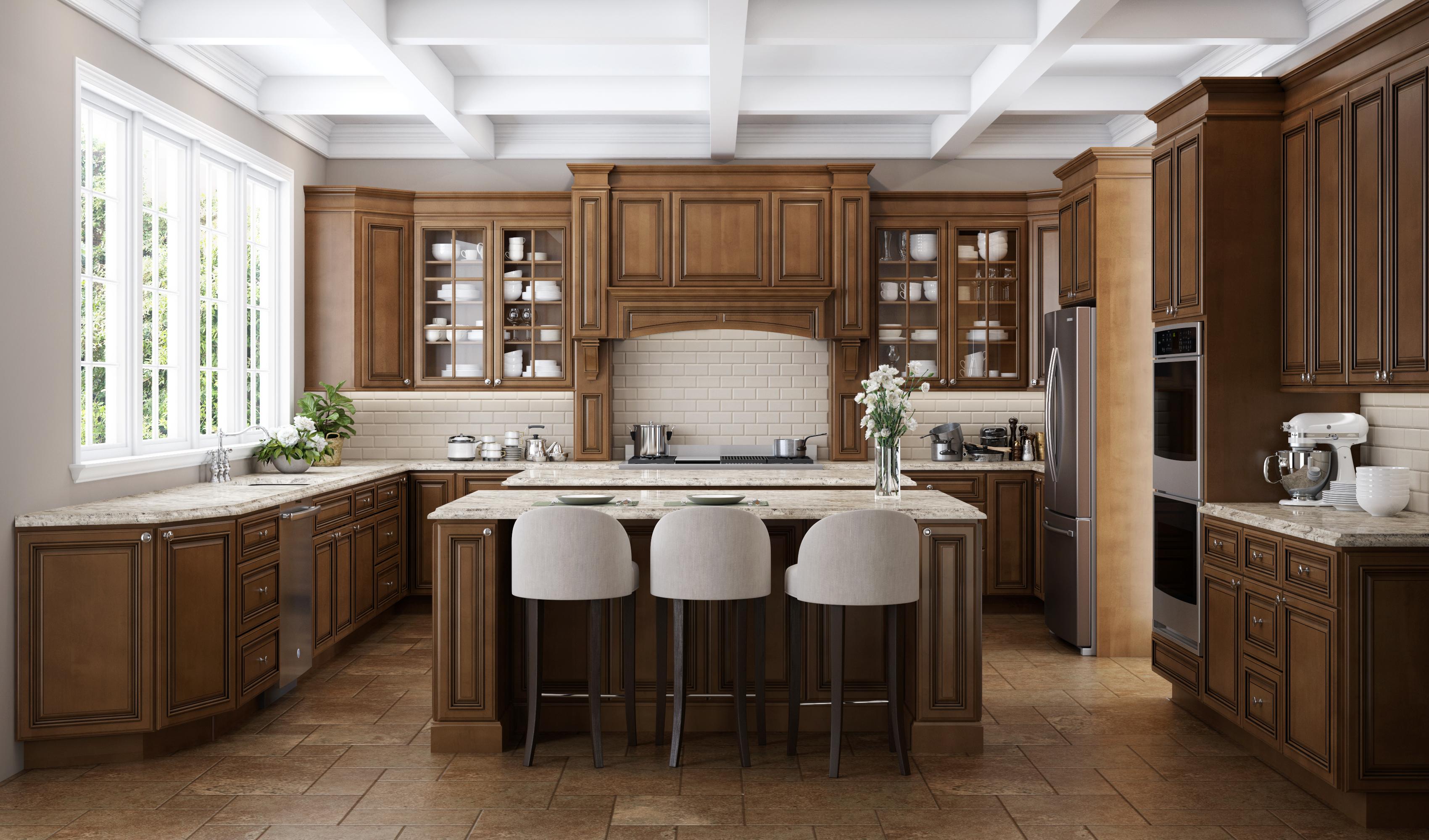 White Kitchen Cabinets With Dark Wood Floors Custom Home Design