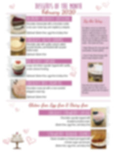 February desserts of the mont