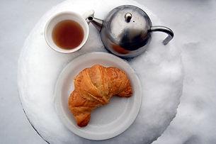 tea on a snowy day