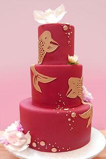 koi custom cake