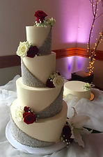 cake with silver dragees