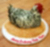 sculpted chicken cake