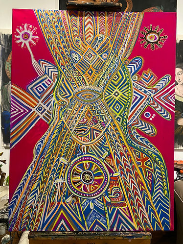 "Original painting ""Person of knowledge """